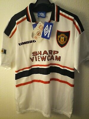 MANCHESTER UNITED 1997-1998 BNWT Sharp Viewcam camiseta shirt trikot umbro