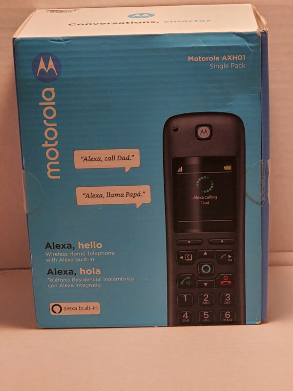 Motorola AXH01 AX Series Dect 6.0 Cordless Digital Phone Amazons Alexa built in
