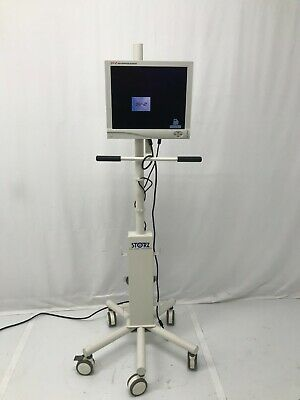 Stryker 19 Sv-2 Flat Panel Hd Monitor W Rolling Cart