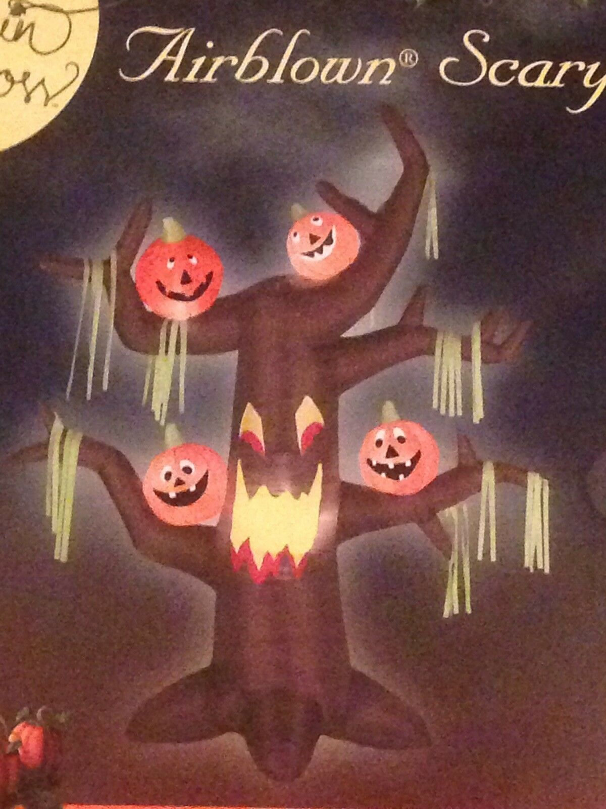 Gemmy Halloween 7' Airblown/inflatable Lighted Tree With Pumpkins Decor