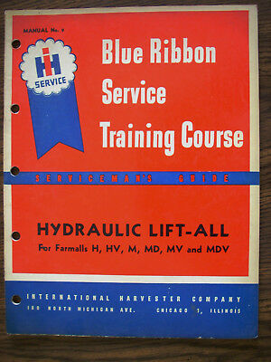 Ih Farmall International H Hv M Md Mv Hydraulic Lift All System Service Manual