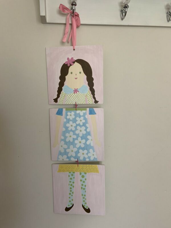 Pottery Barn Kids 3 Continuous double sided Girls Room Wall Art