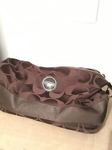 Coach Purse Brown with gold accents