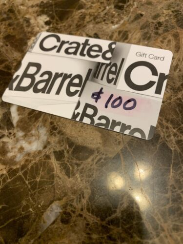 100 Virtual / Physical Crate And Barrel Gift Card - $90.00