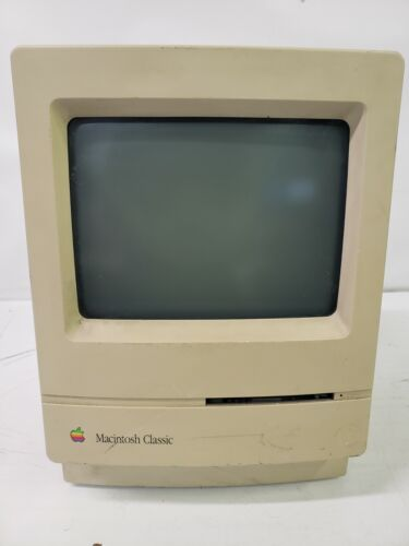 Used Vintage Apple Macintosh Classic M0420 Computer. Tested and working