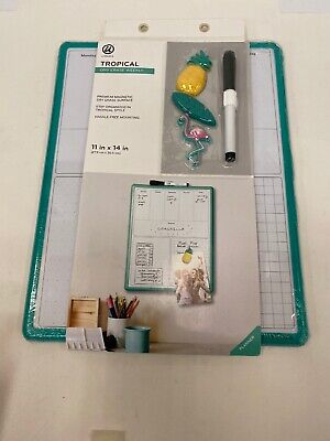 Dry Erase Board Weekly 11 By 14 New W Marker 3 Magnets Easy Mount Tropical