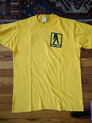 1970s Mens Shirt Styles – Vintage 70s Shirts for Guys vintage 1970s Yellow Pages Russell Athletic Shirt sz L  $30.00 AT vintagedancer.com