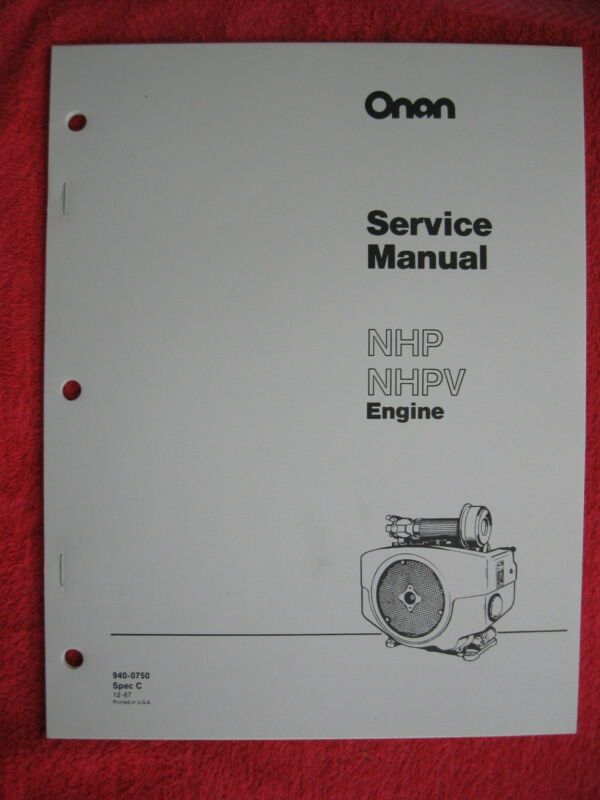 ONAN NHP & NHPV ENGINE SERVICE MANUAL