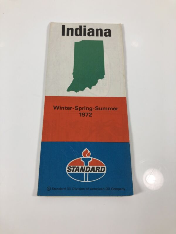 Vintage 1972 Standard Amoco Indiana Map