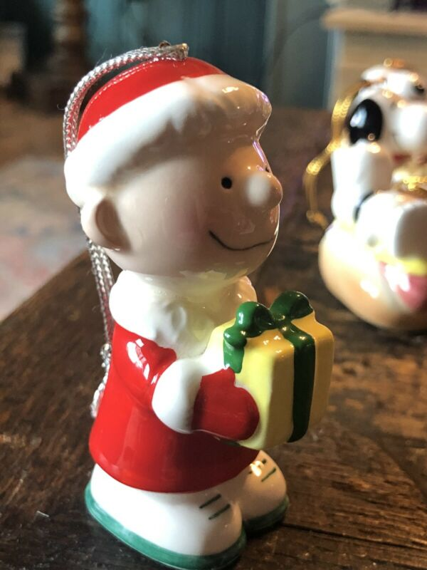 "Vintage Snoopy Ornament Collectible CHARLIE BROWN 3"" 1982"