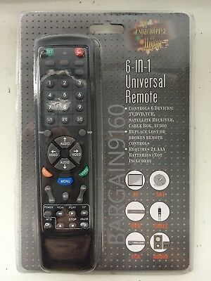 6 IN 1 Universal TV Remote Control TV DVD VCR Satellite Receiver Cable Box AUDIO