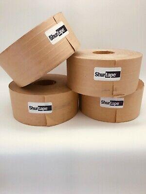 Gummed Shipping Tape Shurtape Wp300 Industrial Grade 4 Rolls 1800 Feet