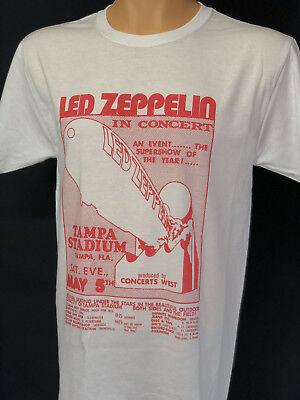 Led Zeppelin Concert Tour T Shirt Live at Tampa Stadium 1973  Vintage Retro](Led Concert)