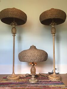 Pineapple Outdoor lamps with Wicker Shade