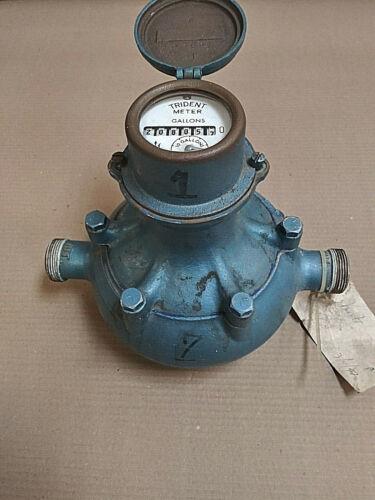 Antique Trident Water Meter 1-66-2 D
