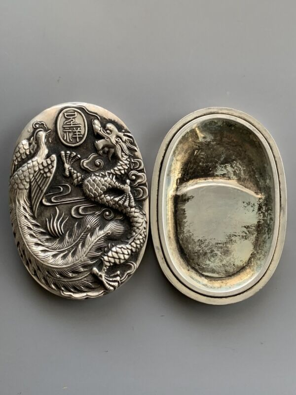 Inkstone Dragon Very Heavy Oval Vintage