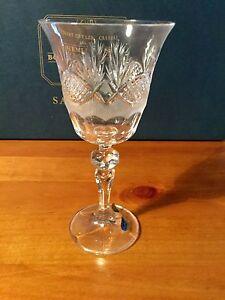 Salisbury crystal Bohemia 4 beautiful wine glasses new in box made Wembley Cambridge Area Preview