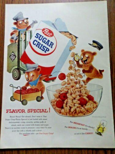 1955 Post Sugar Crisp Ad Flavor Special  Bears