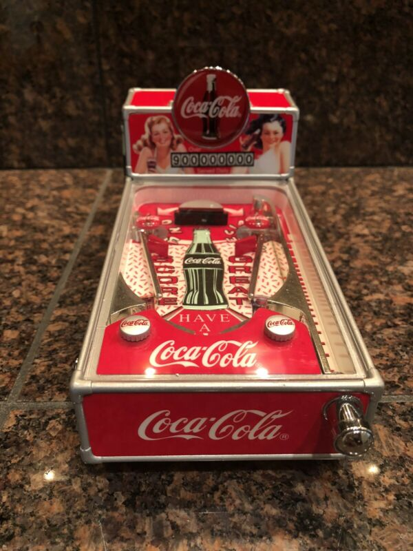 VINTAGE COCA-COLA MUSICAL PINBALL MACHINE COLLECTABLE 1998