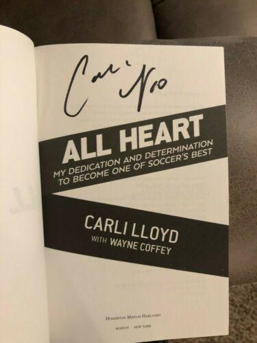 Carli Lloyd All Heart signed autographed USA Soccer Photo Book