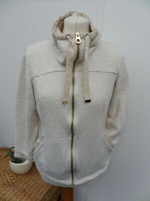 Regatta Cream Thin Light Weight Zipped Mid Layer Top Jacket Walking/ Gym Size 10