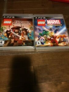 LEGO marvel and LEGO pirates of the Caribbean