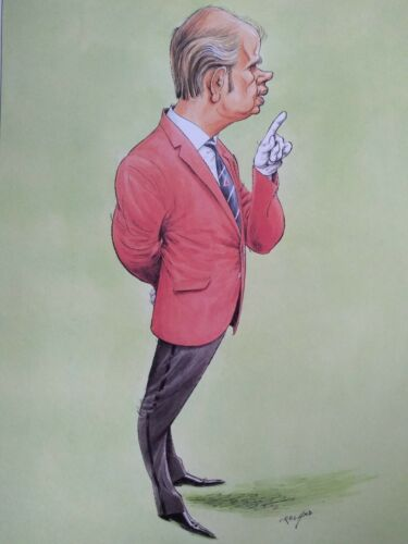 34 caricature prints by John Ireland measures 19cmx27cm