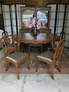 Malcolm Table Chairs and China Cabinet