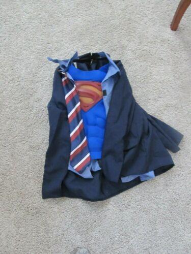 SUPERMAN Coat Tie YOUTH  COSTUME Homemade VERY CUTE Vguc