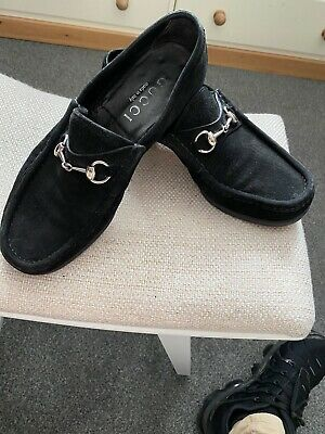 gucci loafers 8.5 Black Suede 42.5