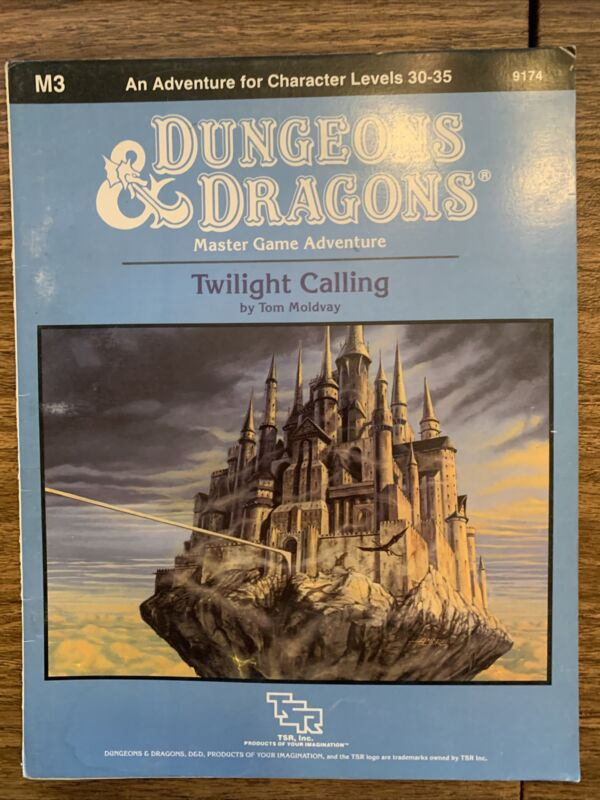 TSR D&D Twilight Calling VG+ Dungeons Dragons Adventure Module Levels 30-35!