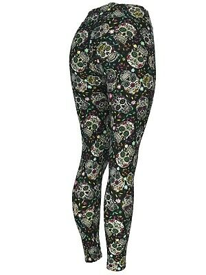 Sugar Skull Dia De Los Muertos Halloween Leggings - Halloween-leggings