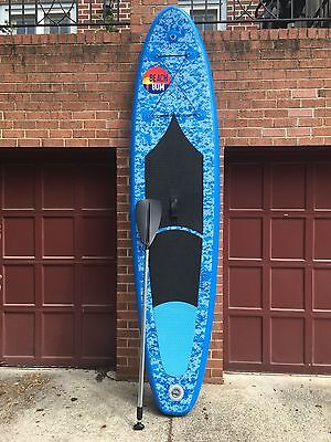 Beach Bum Spk3 Inflatable Stand Up Paddle Board W Paddle And Leash
