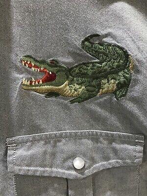 Howler Brothers Gaucho Snapshirt Western Alligator Crocodile Crosscut xxl