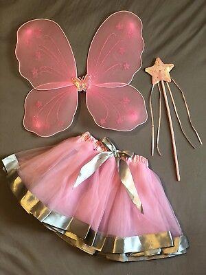 Girls Butterfly Fairy Wings Set Wand Tutu Skirt Costume Kids Baby Toddler](Toddler Fairy)