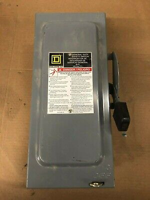 Square D D222n General Duty Safety Switch 60 A 240 Vac
