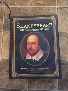 Shakespeare complete works hard cover with gold pages
