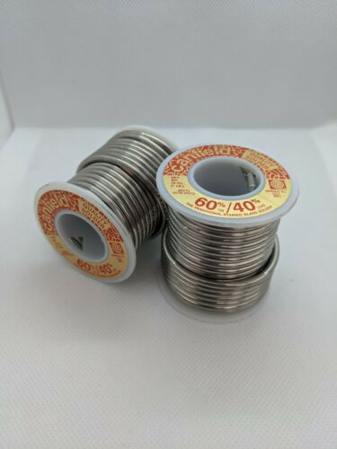 2 Canfield 60/40 Solder 1lb Spools - Stained Glass