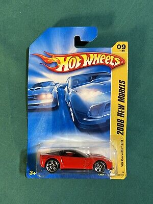 2008 Hot Wheels #9 New Models 9/40 '09 CORVETTE ZR1 Red *imperfect Card