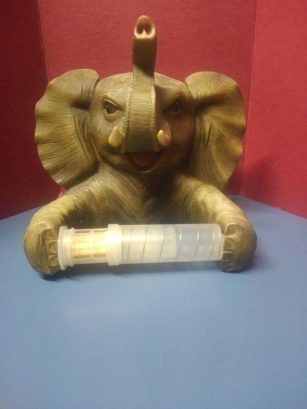 Trunk Up Elephant Bath Tissue Holder T. P. Holder With Attitude Jungle Room