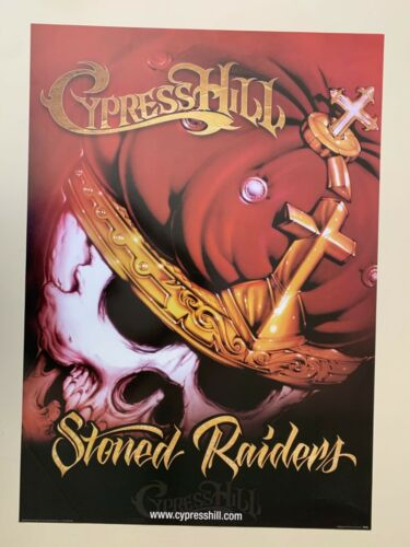 CYPRESS HILL,' STONED RAIDERS' ,RARE AUTHENTIC,LICENSED 2002 POSTER