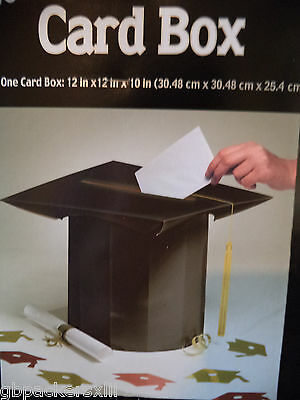 Graduation Cap Card Box (Graduation Cap Shaped Card Box. Gold Graduation Tassel Black Cap.)