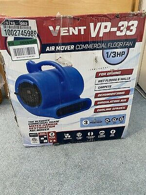 New 13 Hp Air Mover Blower Fan For Carpet Floor Drying Cooling B-air Vp-33