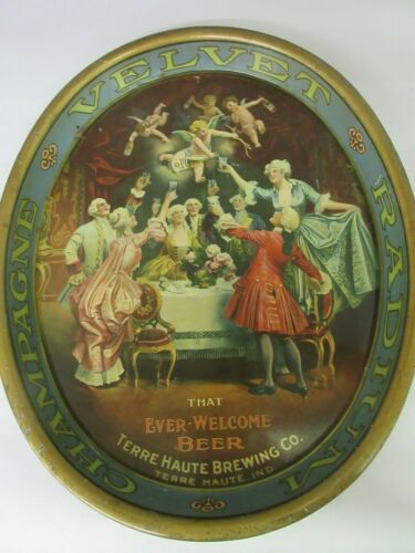 AUTHENTIC TERRE HAUTE BREWING VINTAGE TAVERN BAR ADVERTISING SERVING  TRAY 883-K