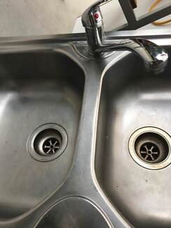 Double Bowl sink and mixer tap Used