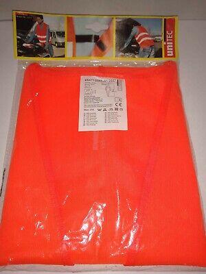 New Unitec Orange Traffic Emergency Vest - Made In Germany