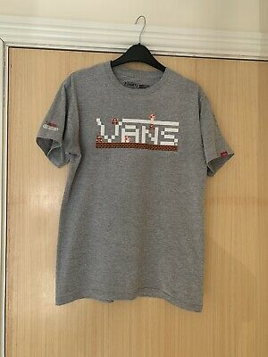 Mens Vans x Nintendo Special Edition Mario Bros T Shirt Grey Size Small