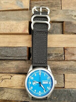 Minuteman A11 American Field Watch Blue Dial Powered by Ameriquartz