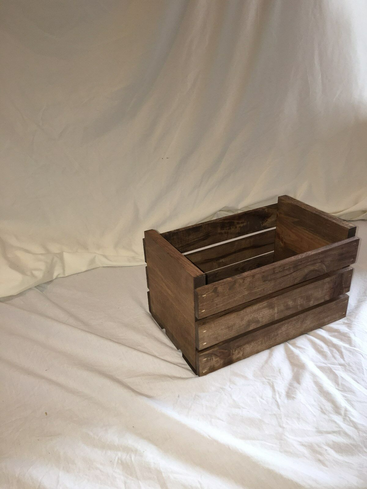 45 RPM Vinyl Record Storage Wood Crate