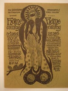 FILLMORE POSTER era EDWARDIAN BALL 1966 SUPER RARE handbill